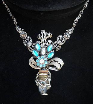 Flower bulb necklace by Michelle Davidson