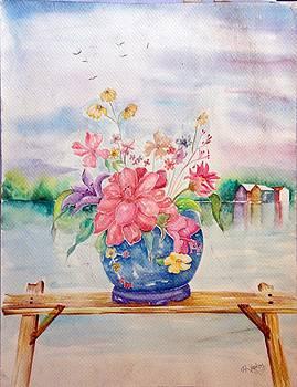 Flower Vase by Hashim Khan