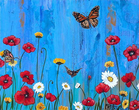 Flowers and Butterflies by Melissa Torres