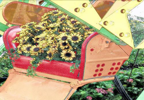 Flowers and the Ferris Wheel by Allen Beilschmidt