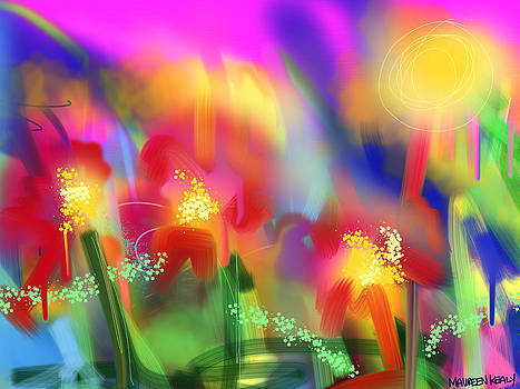 Flowers Greeting the Sun by Maureen Kealy