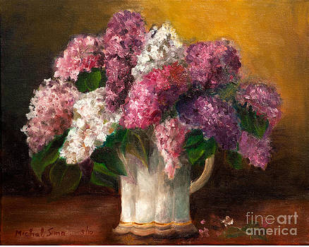 Flowers in a vase by Michal Schwarz