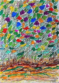 Flowers in Backyard by Fethi Canbaz