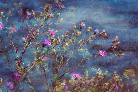 Flowers in Pink and Blue by Celso Bressan