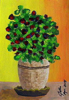 Flowers in Pots by Fethi Canbaz