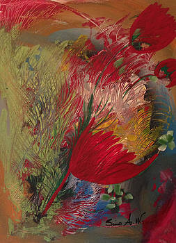 Flowers of my garden by Sima Amid Wewetzer