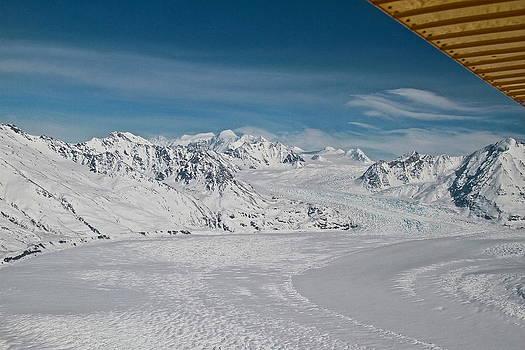 Flowing glacier by Donna Quante