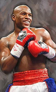 Floyd Mayweather Artwork by Sheraz A