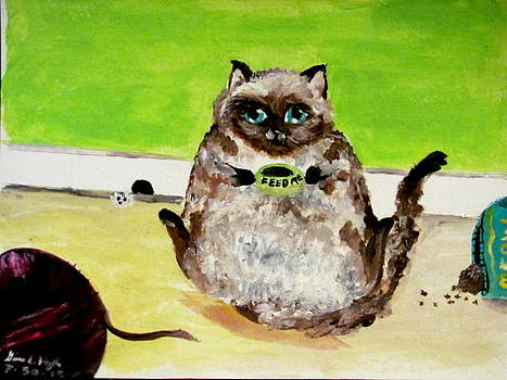 Fluffy Kitty-Feed Me by Gina Hyde