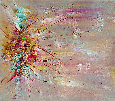 Fly Away Abstract Painting by Julia Apostolova