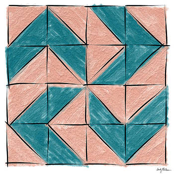 Flyfoot Quilt Block 1 by Sandy MacGowan