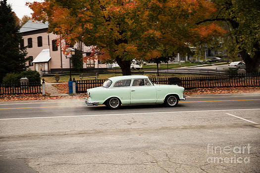 Flying Ford Anglia by Brenda Giasson
