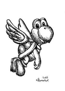 Flying Koopa Trooper Doodle by Kayleigh Semeniuk