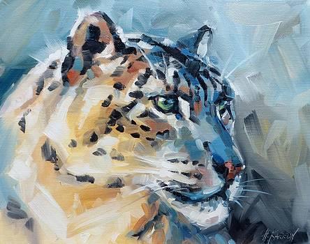 Focused - Snow Leopard by Christine Karron