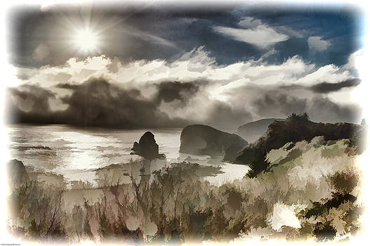 Mick Anderson - Fog and Sun Digital Painting