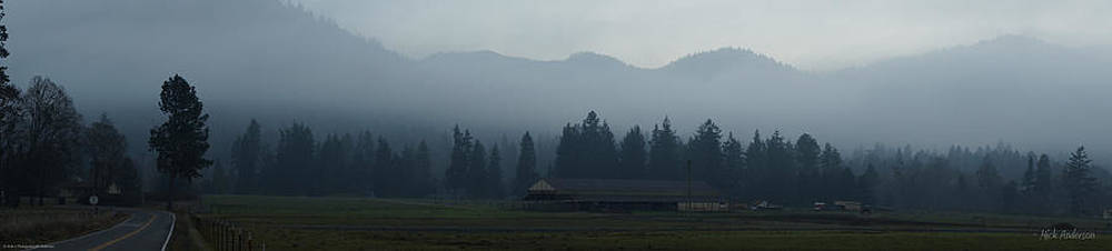 Mick Anderson - Fog Forming at Dusk in the Rogue Valley