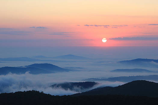 Fog Over the Valley by Kaye Seaboch