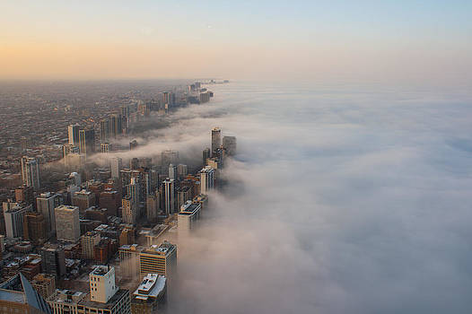 Fog Sweeps the City by Noah Siano