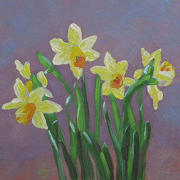 Foggy Day Daffodils by Dorothy Jenson