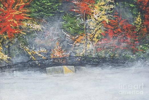 Foggy Fall Lake by William Ohanlan