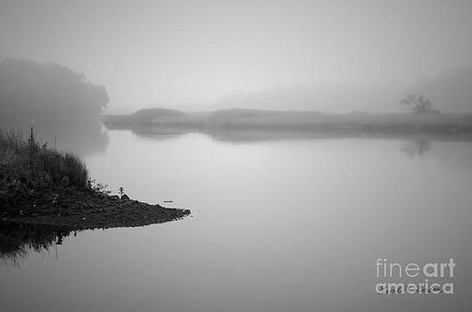 Dave Gordon - Foggy Morning Taunton River BW