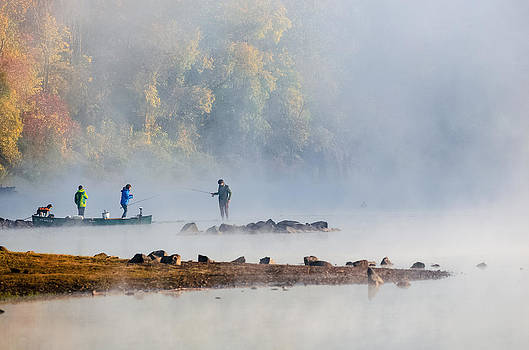 Foggy Morning st Croix River Stillwater MN by RB Art