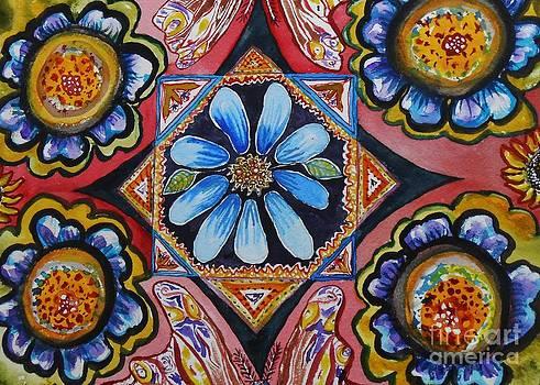 Folk Flowers by Emily Michaud