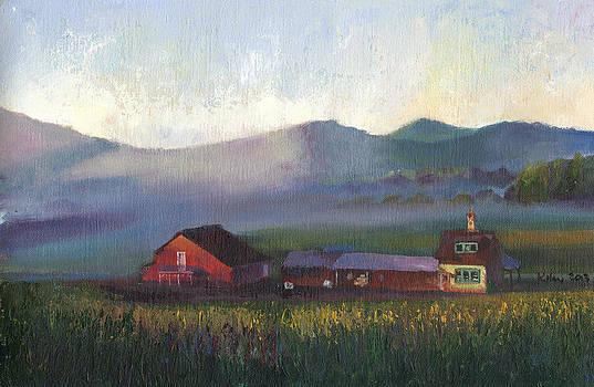 Folk School Barn at Dawn by William Killen