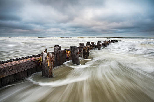 Charleston SC Folly Beach South Carolina Seascape Ocean Pull by Dave Allen