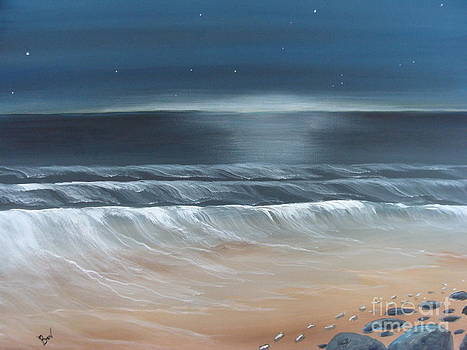 Foot Prints In The Sand by Beverly Livingstone