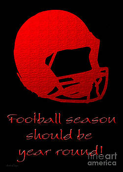Andee Design - Football Season Should Be Year Round In Red