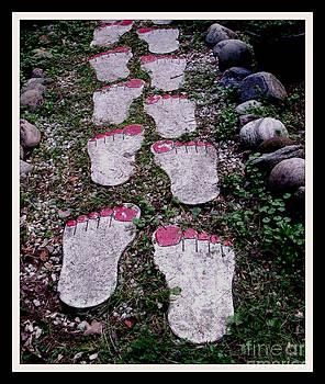 Gail Matthews - Footprint walkway