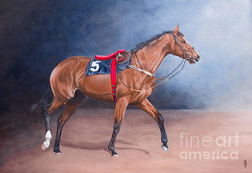 For Bill- Racehorse by Pauline Sharp