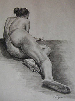 Foreshortened Nude by Rachel Hames