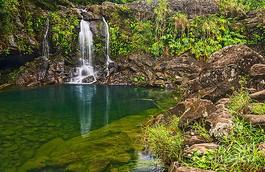 Jamie Pham - Forest Falls - magical waterfall along the Road to Hana in Maui