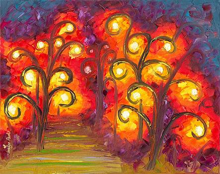 Forest of Fire Orbs by Jessilyn Park