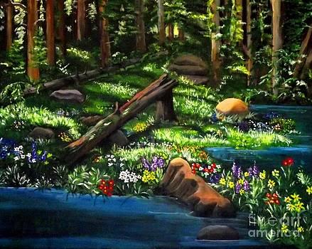 Forest Stream by Jayne Kerr