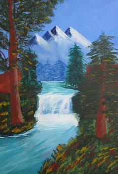Forest Waterfall by Haleema Nuredeen