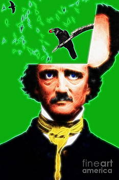Wingsdomain Art and Photography - Forevermore - Edgar Allan Poe - Green - Standard Size