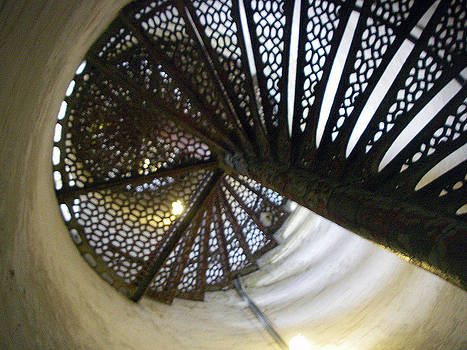 Fort Gratiot Lighthouse staircase by Cynthia Hilliard