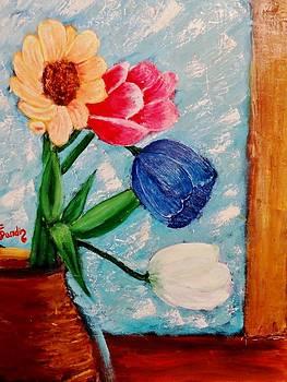 Four flowers by Juan Sandin