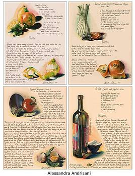 Four Painted Recipes by Alessandra Andrisani