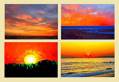 Four Sunsets by Bruce Nutting