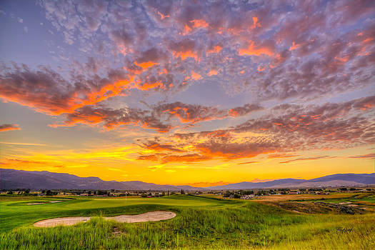 Fourth Green Sunset in Missoula Montana by Fred J Lord