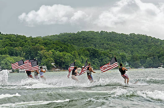 Fourth of July Water Skiers by Susan Leggett