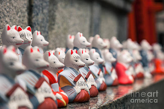 Fototrav Print - Foxes at Fushimi Inari shrine Kyoto Japan