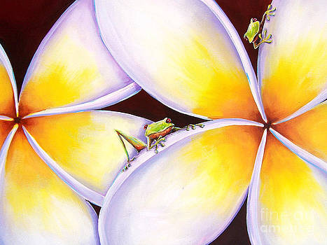 Frangipani Frogs by Deb Broughton