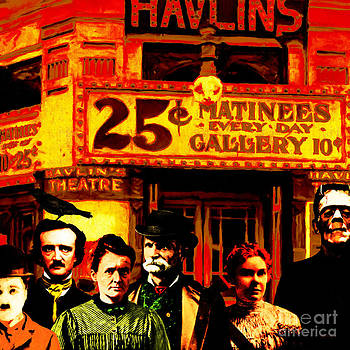 Wingsdomain Art and Photography - Frank and Friends Goes To The Vintage Havlins Theatre 25 Cents Matinees Everyday 20140812 square