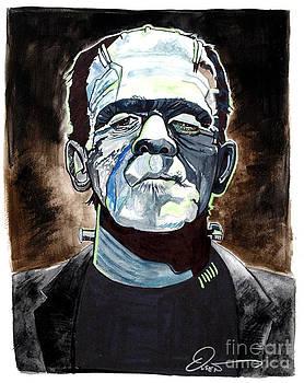 Frankenstein Boris Karloff by Dave Olsen