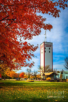 Paul Velgos - Frankfort Illinois in Autumn with Frankfort Grainery